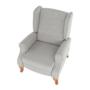 Kép 26/30 - ARMIN Pozícionáló fotel bézs/anyag/fa,  Pozícionáló fotel bézs/anyag/fa