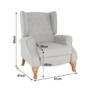 Kép 29/30 - ARMIN Pozícionáló fotel bézs/anyag/fa,  Pozícionáló fotel bézs/anyag/fa