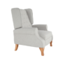Kép 30/30 - ARMIN Pozícionáló fotel bézs/anyag/fa,  Pozícionáló fotel bézs/anyag/fa