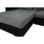 Kép 5/29 - LEMON U alakú ülőgarnitúra - ekobőr fekete/anyag világosszürke,  jobb [U]