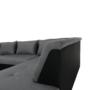 Kép 9/29 - LEMON U alakú ülőgarnitúra - ekobőr fekete/anyag világosszürke,  jobb [U]