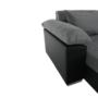 Kép 10/29 - LEMON U alakú ülőgarnitúra - ekobőr fekete/anyag világosszürke,  jobb [U]