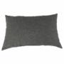 Kép 25/29 - LEMON U alakú ülőgarnitúra - ekobőr fekete/anyag világosszürke,  jobb [U]