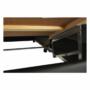 Kép 28/29 - LEMON U alakú ülőgarnitúra - ekobőr fekete/anyag világosszürke,  jobb [U]
