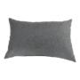 Kép 6/29 - LEMON U alakú ülőgarnitúra - fekete textilbőr/világos szürke szövet,  balos [U]