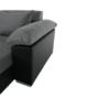 Kép 10/29 - LEMON U alakú ülőgarnitúra - fekete textilbőr/világos szürke szövet,  balos [U]