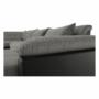 Kép 25/29 - LEMON U alakú ülőgarnitúra - fekete textilbőr/világos szürke szövet,  balos [U]