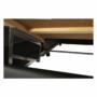 Kép 28/29 - LEMON U alakú ülőgarnitúra - fekete textilbőr/világos szürke szövet,  balos [U]