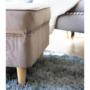 Kép 12/13 - RUFINO Puff elegáns stílusban,  05 taupe bézses szürke szín+ bükkfa lábak