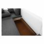 Kép 22/25 - TRENDY U alakú ülőgarnitúra,  fehér mübőr/szürke anyag