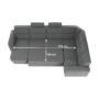 Kép 24/31 - BORN Szövetborítású luxus ülőgarnitúra - állítható fejtámlákkal - balos,  szövet