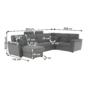 Kép 25/31 - BORN Szövetborítású luxus ülőgarnitúra - állítható fejtámlákkal - balos,  szövet