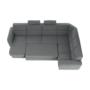 Kép 28/31 - BORN Szövetborítású luxus ülőgarnitúra - állítható fejtámlákkal - balos,  szövet