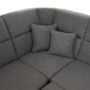 Kép 17/31 - BORN Szövetborítású luxus ülőgarnitúra - állítható fejtámlákkal - balos,  szövet