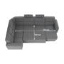 Kép 18/31 - BORN Szövetborítású luxus ülőgarnitúra - állítható fejtámlákkal - balos,  szövet Cablo 14 szürke