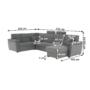 Kép 19/31 - BORN Szövetborítású luxus ülőgarnitúra - állítható fejtámlákkal - balos,  szövet