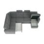 Kép 21/31 - BORN Szövetborítású luxus ülőgarnitúra - állítható fejtámlákkal - balos,  szövet Cablo 14 szürke