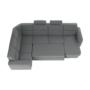 Kép 22/31 - BORN Szövetborítású luxus ülőgarnitúra - állítható fejtámlákkal - balos,  szövet Cablo 14 szürke