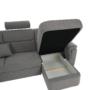 Kép 28/31 - BORN Szövetborítású luxus ülőgarnitúra - állítható fejtámlákkal - balos,  szövet Cablo 14 szürke