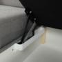 Kép 30/31 - BORN Szövetborítású luxus ülőgarnitúra - állítható fejtámlákkal - balos,  szövet Cablo 14 szürke