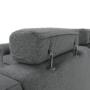 Kép 31/31 - BORN Szövetborítású luxus ülőgarnitúra - állítható fejtámlákkal - balos,  szövet Cablo 14 szürke