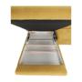 Kép 12/32 - FABIA Szövetborítású sarokgarnitúra - ágyfunkcióval - ágyneműtartóval - állítható fejtámlával - balos kivitel,  Soro 40 mustársárga