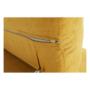 Kép 16/32 - FABIA Szövetborítású sarokgarnitúra - ágyfunkcióval - ágyneműtartóval - állítható fejtámlával - balos kivitel,  Soro 40 mustársárga
