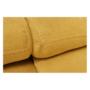 Kép 18/32 - FABIA Szövetborítású sarokgarnitúra - ágyfunkcióval - ágyneműtartóval - állítható fejtámlával - jobbos kivitel,  Soro 40 mustársárga