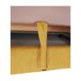 Kép 27/32 - FABIA Szövetborítású sarokgarnitúra - ágyfunkcióval - ágyneműtartóval - állítható fejtámlával - jobbos kivitel,  Soro 40 mustársárga