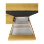 Kép 28/32 - FABIA Szövetborítású sarokgarnitúra - ágyfunkcióval - ágyneműtartóval - állítható fejtámlával - jobbos kivitel,  Soro 40 mustársárga