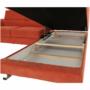 Kép 7/35 - LEGAS Szövetborítású sarokgarnitúra - ágyfunkcióval - ágyneműtartóval - állítható fejtámlával - jobbos kivitel,  Orinoco 51 terrakotta
