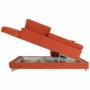 Kép 19/35 - LEGAS Szövetborítású sarokgarnitúra - ágyfunkcióval - ágyneműtartóval - állítható fejtámlával - jobbos kivitel,  Orinoco 51 terrakotta