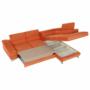 Kép 35/35 - LEGAS Szövetborítású sarokgarnitúra - ágyfunkcióval - ágyneműtartóval - állítható fejtámlával - jobbos kivitel,  Orinoco 51 terrakotta
