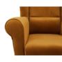 Kép 2/13 - ASTRID Füles fotel puffal,  szövet mustár