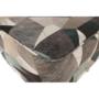 Kép 7/19 - ASTRID Füles fotel puffal,  szövet barna-zöld minta