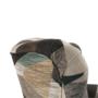 Kép 9/19 - ASTRID Füles fotel puffal,  szövet barna-zöld minta