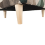 Kép 13/19 - ASTRID Füles fotel puffal,  szövet barna-zöld minta