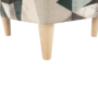 Kép 14/19 - ASTRID Füles fotel puffal,  szövet barna-zöld minta