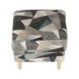 Kép 15/19 - ASTRID Füles fotel puffal,  szövet barna-zöld minta