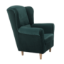 Kép 2/11 - CHARLOT Füles fotel,  szövet smaragd