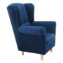 Kép 2/12 - CHARLOT Füles fotel,  szövet kék