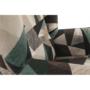 Kép 8/15 - CHARLOT Füles fotel,  szövet barna-zöld minta