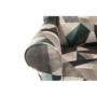 Kép 9/15 - CHARLOT Füles fotel,  szövet barna-zöld minta