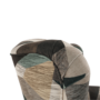 Kép 10/15 - CHARLOT Füles fotel,  szövet barna-zöld minta