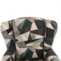 Kép 11/15 - CHARLOT Füles fotel,  szövet barna-zöld minta