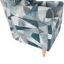 Kép 4/15 - CHARLOT Füles fotel,  szövet szürke-kék minta