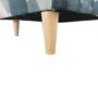 Kép 7/15 - CHARLOT Füles fotel,  szövet szürke-kék minta