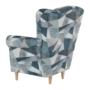 Kép 11/15 - CHARLOT Füles fotel,  szövet szürke-kék minta