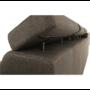 Kép 5/26 - SEGORIA Ülőgarnitúra - szövet szürke-barna Taupe,  jobbos [LUX]