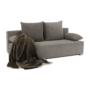 Kép 8/25 - FERIHA Kinyitható kanapé,  szövet szürke-barna taupe